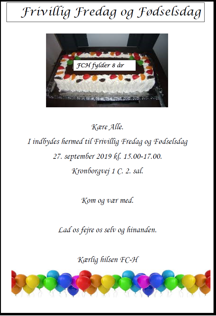 FCH foedselsdag 2019 uden link
